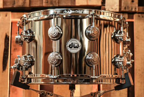 DW Collector's Nickel Over Brass 8x14 Snare Drum - DRVK0814SVC