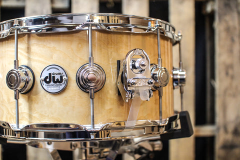 DW Collector's Natural Lacquer Over White Ash Pomele 6.5x14 Snare - SO# 1119651