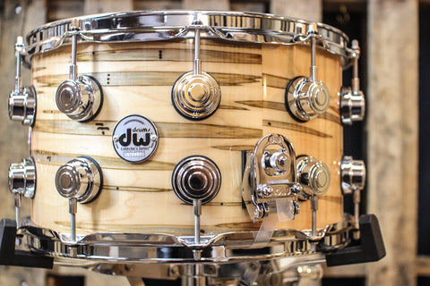 DW Collector's Maple HVLT Natural Lacquer Over Mineral Maple 7x14 Snare - SO# 1119634