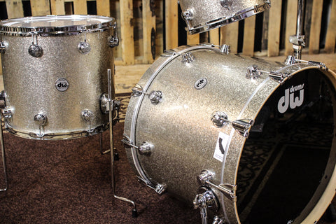 DW Collector's Maple Nickel Sparkle Glass Drum Set - 22, 10, 12, 16 - SO# 1121123