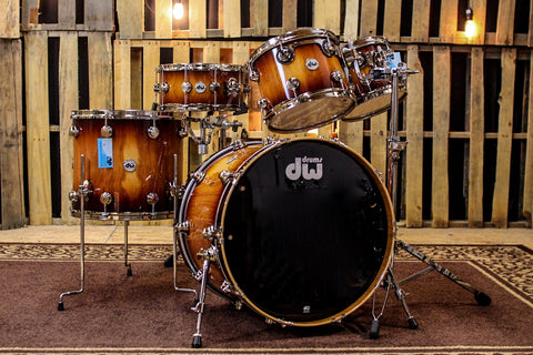 DW Collector's Series Toasted Almond To Natural Burst Over Pure Almond with Nickel Hardware