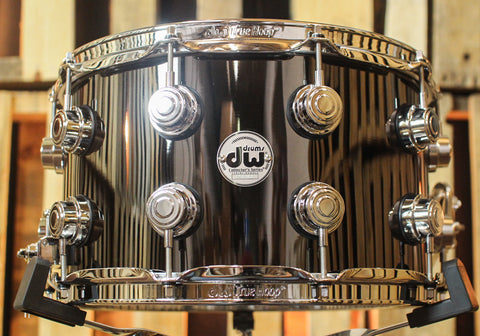 DW Collector's Black Nickel Over Brass 8x14 Snare Drum - DRVB0814SVC