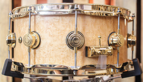 "DW Collector's ""10+6"" Natural Birdseye Maple Snare Drum - SO#1096614 - 6x14"