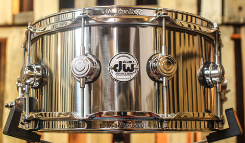 DW Collector's Stainless Steel 6.5x14 Snare Drum - DRVL6514SPC