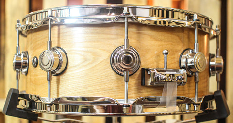 DW Collector's HVLT Natural Oil Over Birch Snare Drum - SO#1156335 - 5.5x14