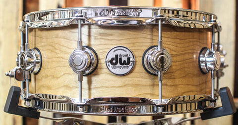 DW Collector's HVLT Natural Oil Over Cherry Snare Drum - SO#1156337 - 5.5x14