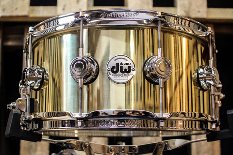 DW Collector's Bell Brass 3mm 6.5x14 Snare Drum - DRVN6514SPC