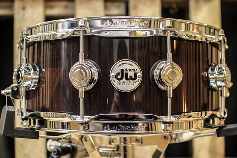 DW Collector's Natural Lacquer Over Escher Tesselation 5x14 Snare - SO#1119646