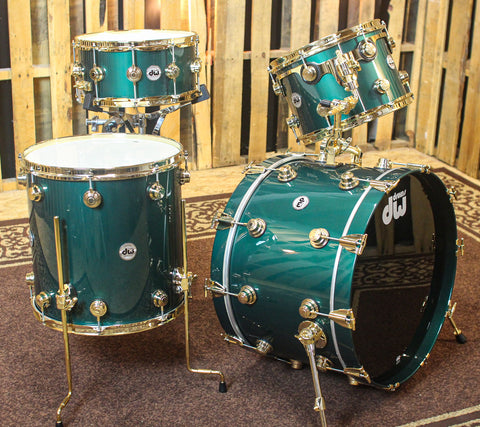 DW Collector's Cadillac Green Drum Set - 22,13,16,6.5x14 - SO#1169199