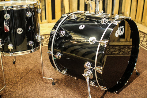 DW Collector's Series Maple Drum Set 22, 13, 16, Solid Black Lacquer SO# 1094803
