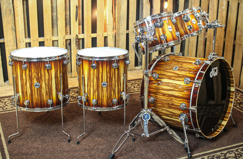DW Collector's Burnt Toast Burst Over Chechen Drum Set - SO#1161700