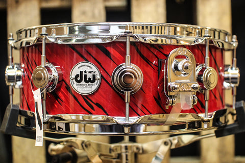 DW Collector's Maple Twisted Red Lava 5x14 Snare Drum - SO# 1131903