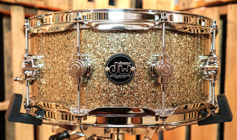 DW Performance Maple Ginger Glitter Snare Drum - 5.5x14