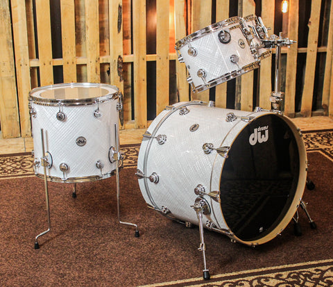 DW Collector's White Crystal Drum Set - 22,10,12,16 - SO#1184638