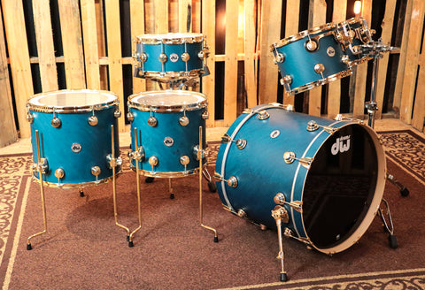 DW Collector's Azure Satin Oil Drum Set - 22,10,12,14,16,6.5x14 - SO#1186164
