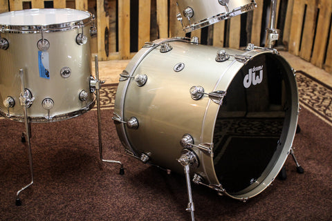 DW Collector's Map/Mah Pale Gold Metallic Custom Drum Set - SO# 1139427