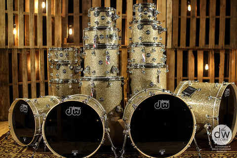 DW Drums Performance Maple Ginger Glitter SHELL BANK CHOOSE YOUR SIZES