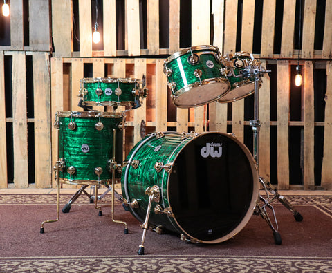 DW Collector's Emerald Onyx Drum Set - 20,10,12,14,5.5x14 - SO#1186156
