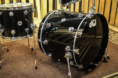 DW Collector's Drum Set, Solid Black Lacquer - 22, 10, 12, 14, 16 - SO #1142420
