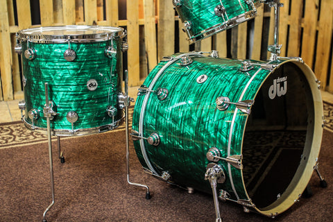 DW Collector's Maple SSC Emerald Onyx Drum Set - 22/10/12/16 - SO #1149842