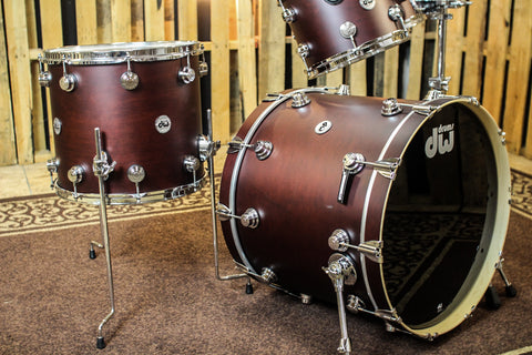 DW Collector's Oxblood Satin Oil Maple Drum Set - 22/10/12/16 - SO# 1149282