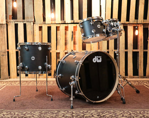 DW Collector's Ebony Satin Oil Drum Set - 22,10,12,16 - SO#1193435