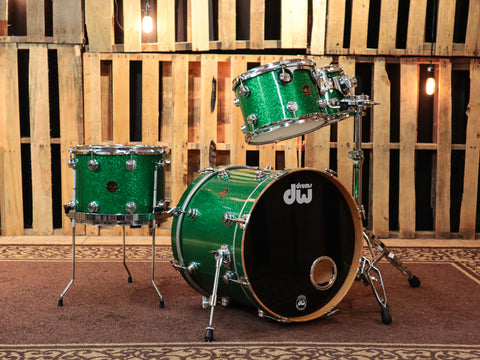 DW Collector's Green Sparkle Drum Set - 20,10,12,14 - SO#2698