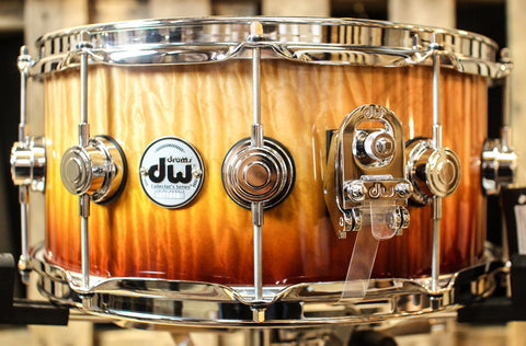 DW Collector's Burnt Orange Fade Quilted Maple 5.5x14 Snare - SO#1157755