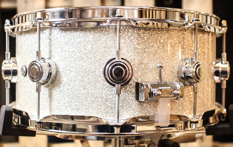 DW Collector's Broken Glass Finish Ply Maple 6x14 Snare - SO#1161169