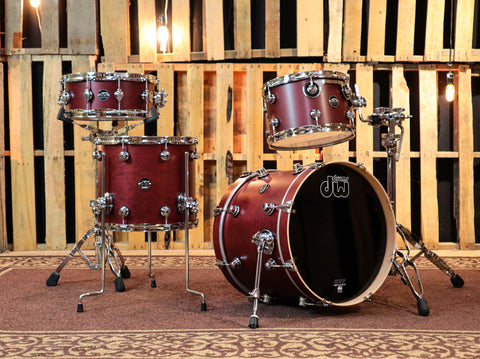 DW Collector's Exotic Rainbow Maple VLT 7x14 Snare SO#1158087 (video demo)