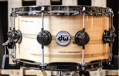 DW Collector's Mineral Maple Standard w/ Black Nickel Hardware 6.5x14 Snare - SO#1157748