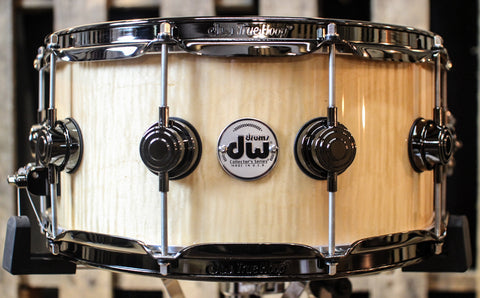 DW Collector's Curly Maple Exotic Cherry Shell HVLT 6.5x14 Snare - SO#1157709