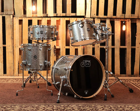 DW Performance Series Blue Sparkle Drum Set - BRAND NEW EXCLUSIVE FINISH PLY!