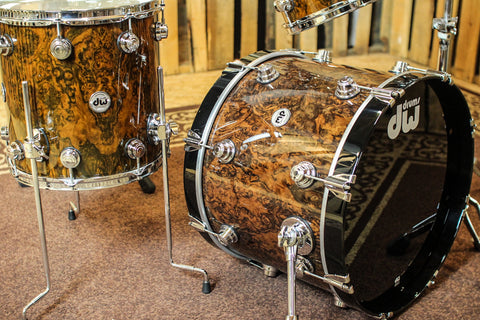 "DW Collector's Maple ""333"" Walnut Burl Drum Set - 20,10,12,14,5x14 - SO#1156134"