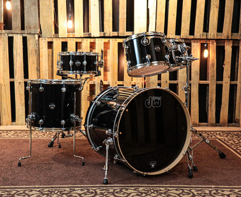 DW Performance Black Mirra Drum Set - 22,10,12,16,6.5x14
