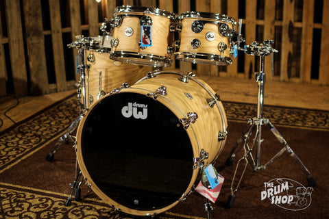 USED DW Drums Collector's Natural Hard Satin Over Oak Lacquer Specialty SO# 961120