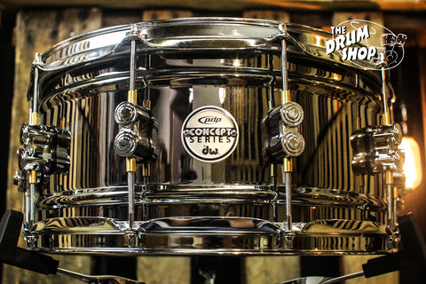 PDP Concept Series Black Nickel Over Steel 6.5x14 Snare Drum