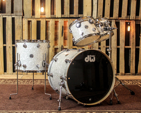 DW Collector's Ultra White Marine Pearl Drum Set - 22,10,12,16 - SO#1149840