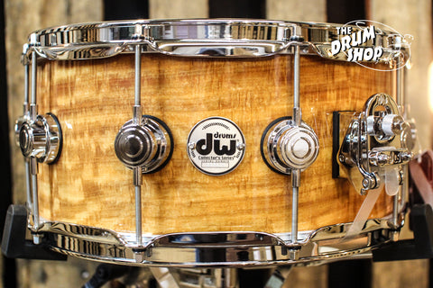 DW Collector's Maple Natural Lacquer Over Movinge 6.5x14 Snare Drum - SO# 1101169