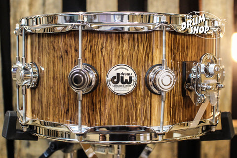 DW Collector's Maple Natural Lacquer Over English Oak 6.5x14 Snare Drum - SO# 1101187