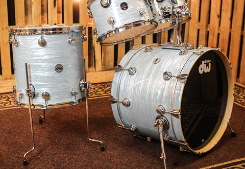 DW Santa Monica Pale Blue Oyster Drum Set - 22,12,13,16 - SO#1162397