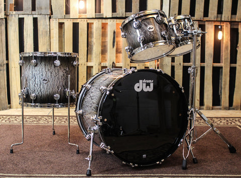 DW Collector's 333 Black Burst Over Quilted Maple Kit - 22,10,12,16 - SO#1160457