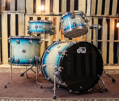 DW Collector's Carl Allen Blue Burst Over Quilted Kit - 22,12,16,14 - SO#1134314