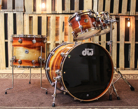DW Santa Monica Toasted Almond Burst Over Padauk Kit - 22,10,12,16 - SO#1160841