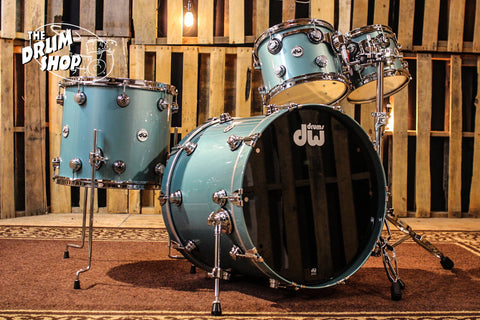 DW Collector's Series Drum Set, Artesian Green Metallic (video demo) SO# 1101774