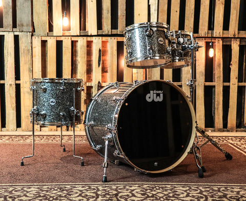 DW Collector's Black Ice Drum Set - 22,10,12,14 - SO#878401