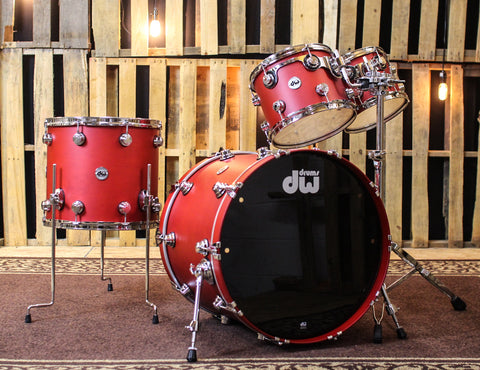 DW Collector's Maple Apple Red Stain Drum Set - 22,10,12,16 - SO#1160701