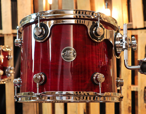 DW Collector's Map/Mah Natural To Quick Candy Black Burst Drum Set - SO# 1107213
