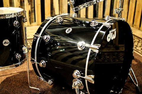 DW Collector's Series Maple Solid Black Lacquer Drum Set - SO# 1101773