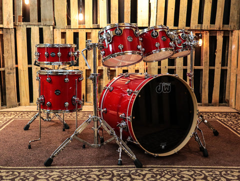 DW Collector's Maple Broken Glass Drum Set - 22,10,12,14,16 - SO#1161116